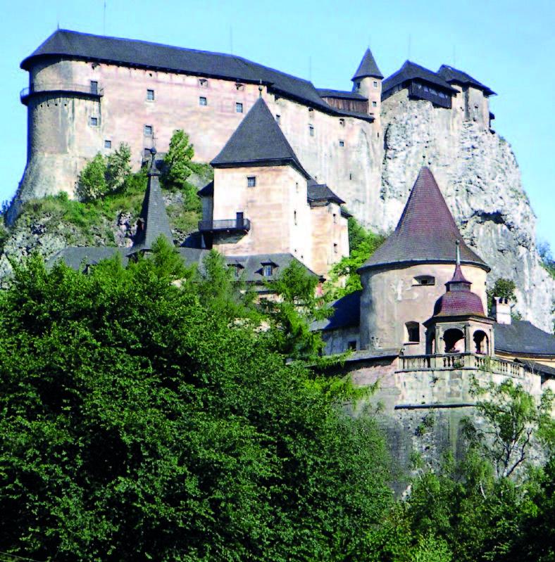Die Arwaburg in der Slowakei, Foto: Wojsyl